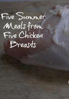 summer meals, chicken breast