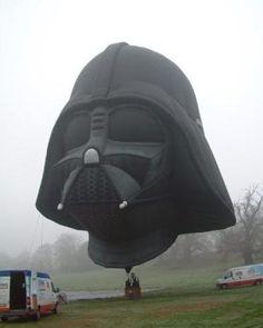 Darth Vader helmet hot air balloon- insane!