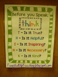 Tangled Up Teaching: Salute to Social Skills - I put this on my kids board, but this is good for all of us to remember.