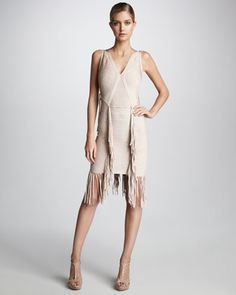 Fringe Bandage Dress by Herve Leger at Neiman Marcus.