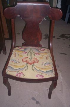 VTG Antique Empire Style Walnut Chair with by ChoicesEmporium
