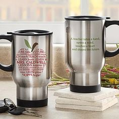 Apple Scroll Personalized Teacher Travel Mug