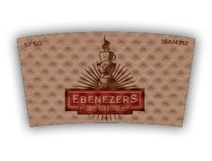 Ebenezer's Coffee With a Cause custom printed Java Jacket™ coffee sleeve.