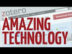 There's no need to stress about citations after you learn Zotero!  Ready, Set, Zotero! - YouTube