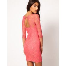 Lace Dress with Cut Out Back