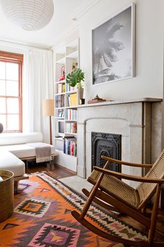 hearth mantle fire place living room eclectic natural
