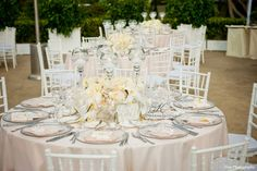 Blush toned table top wedding