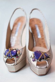Oscar de la Renta heels, from Mark Ingram Bridal Atelier. Photo by Jonathan Young Weddings. #shoes