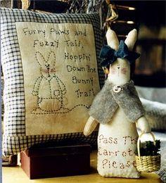 nice bunny and stitcheries