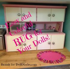 Easy and Colorful RUG for Your Dolls