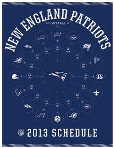 New England Patriots 2013 Schedule