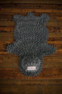 monster rug, monster skin, skin rug, floor rug