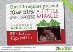 $14.50 Christmas Card/ Pregnancy Announcement