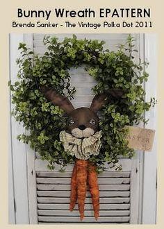 Primitive Easter wreath...
