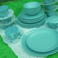 Aqua Melmac Dinnerware