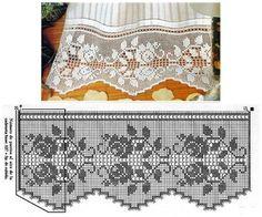gordijnen dantel sevdası, curtain crochet, nėrimo raštai, fillet crochet curtain, crochet ganchillo