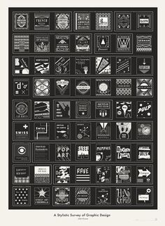 A stylist survey of graphic design