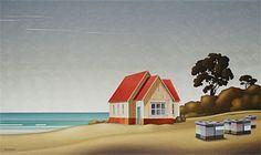 Brian Dahlberg // 'Faithful Workers' East Cape #Art #Landscape #Oil #Painting #NewZealand