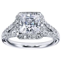 Princess Cut Halo Engagement Ring Setting 31 - Gerry The Jeweler