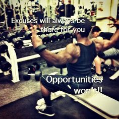 Excuses vs Opportunities
