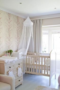 nursery-love the wall paper!