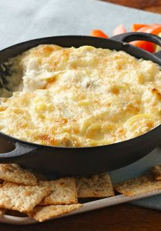 Hot Artichoke Dip -- In our experience, these cheesy appetizer recipe goes fast! In the unlikely event of leftovers, refrigerate in an airtight container for up to 3 days.