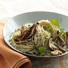 Whole-Wheat Pasta With Mushrooms | MyRecipes.com #myplate #grain #vegetable #Italian