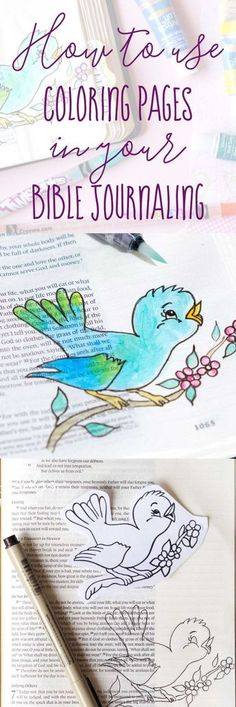 Spark your Creativity by using Coloring Pages in your Bible Journaling!