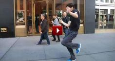 This Guy Decided To Dance On The Street, What Happened Next Will Make Your Day