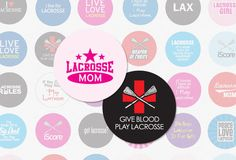 LACROSSE 1 Inch Circle Digital Collage Sheet for Cupcake Toppers, Pendants, Magnets and  More No. 1173. $2.99, via Etsy.