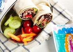 Tuna & Black Bean Wraps by sweetpotatochronicles: Tastes light and bright while being hearty and healthy, a refreshing change for the lunch box! Photo by Maya Visneri.  #Lunch #Kids #Tuna_Wrap #Black_Bean