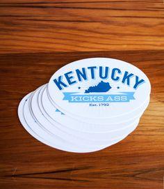 Kentucky Kicks Ass Stickers