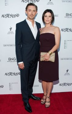 """Neve Campbell and JJ Feild at the premiere of Feild's new movie """"Austenland"""" (which looks awesome) in LA last night ☺"""