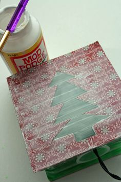 minut craft, glass block, light, holiday glass