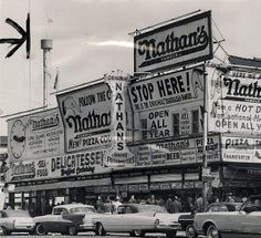 """Stop Here!"" at Nathan's 