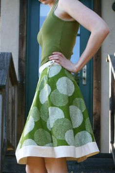 Hemless A-line skirt tutorial and pattern  this is lovely. #tutorial