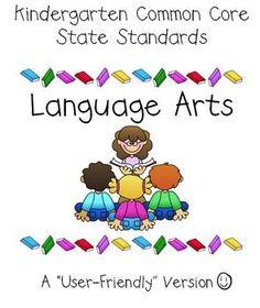 kindergarten common core!