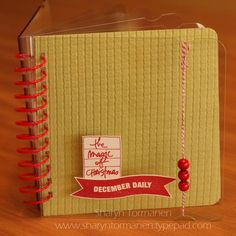 December Daily time already? Sharyn Tormanen used the December Joys by Ali Edwards stamp set from TechniqueTuesday.com to get a head start on her album for this year. #decdaily #decemberdaily