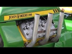 ▶ 2013 Gold Cup Ford Flathead Powered John V8 Deere 200 Lawnmower Tractor Nostalgia Drag Racing - YouTube