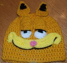 Free Crochet Garfield Hat Pattern.