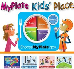 #Games #Puzzles #Songs #Videos & More at the #MyPlate Kids' Place!