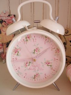 pastel, rose, little girls, cottag, simply shabby chic, alarm clocks, shabbi chic, vintage pink, little girl rooms