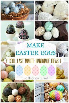 Make handmade Easter eggs - Craftionary