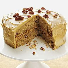 food recipes, layer cakes, pecan spice, cooking light, frosting recipes, recipe finder, cake recipes, spice cake, mapl frost