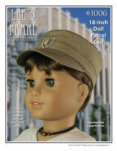 L&P Pattern 1006 Patrol Cap for 18 Inch Dolls by leeandpearl, $3.99