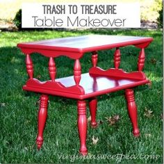 Red Painted Furnitur