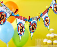 Birthday party banner by Vicki Boutin