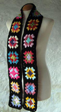 The Crochet Granny Square Scarf