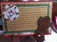 Gingerbread cookie card