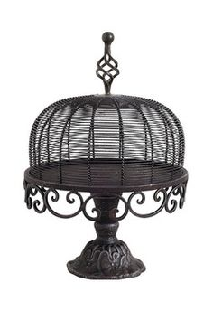 for your Goth cake - iron cake stand #kitchen